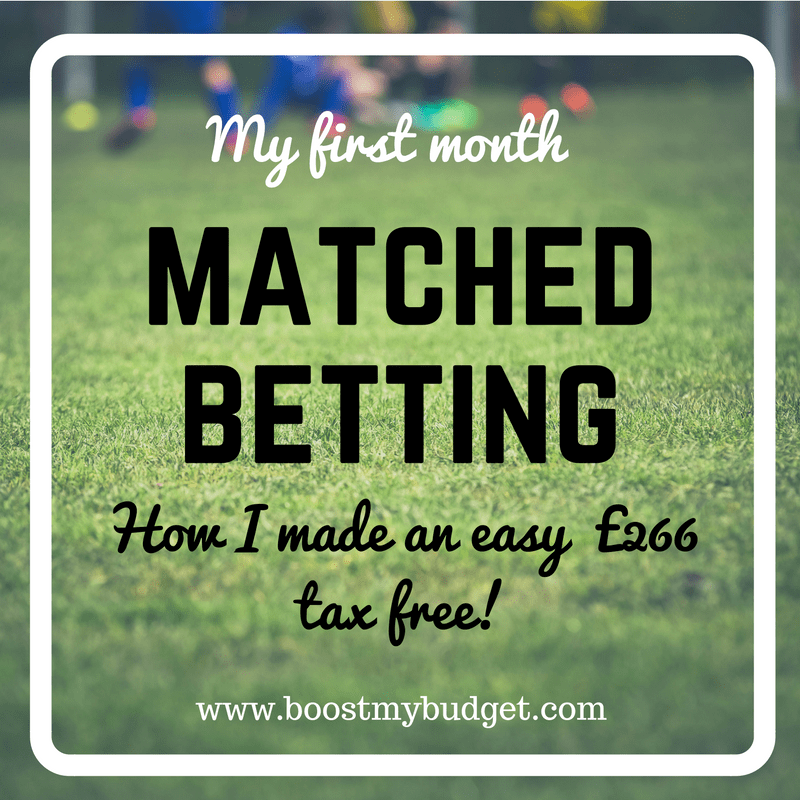 Learn how I made £266.52 in my first month matched betting! Matched betting is a risk free and tax free way for UK and Irish residents to earn extra money from home.