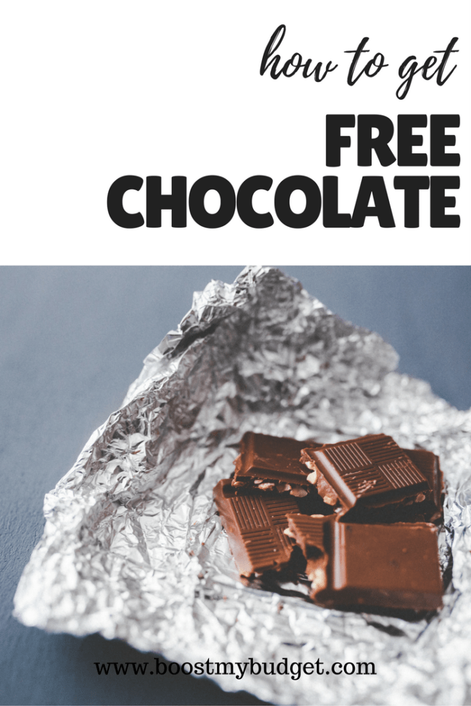 how to get free chocolate with the Shopmium app - see Boost My Budget for your referral code!