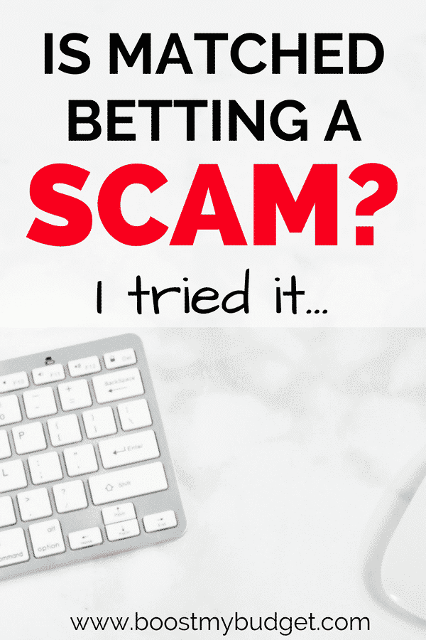 Maybe you've heard about matched betting as a good way to make money online, but is it a scam? Tax free, risk free extra cash seems too good to be true... I tried it for one month. Click through to see how much I made!