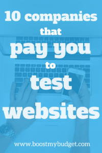10 companies that pay you to test websites