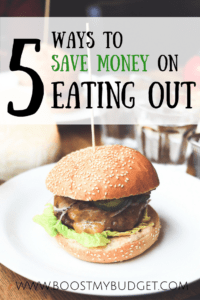 5 ways to save money on eating out
