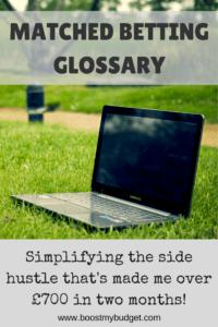 matched betting glossary