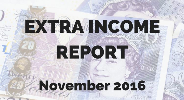 November 2016 extra income report