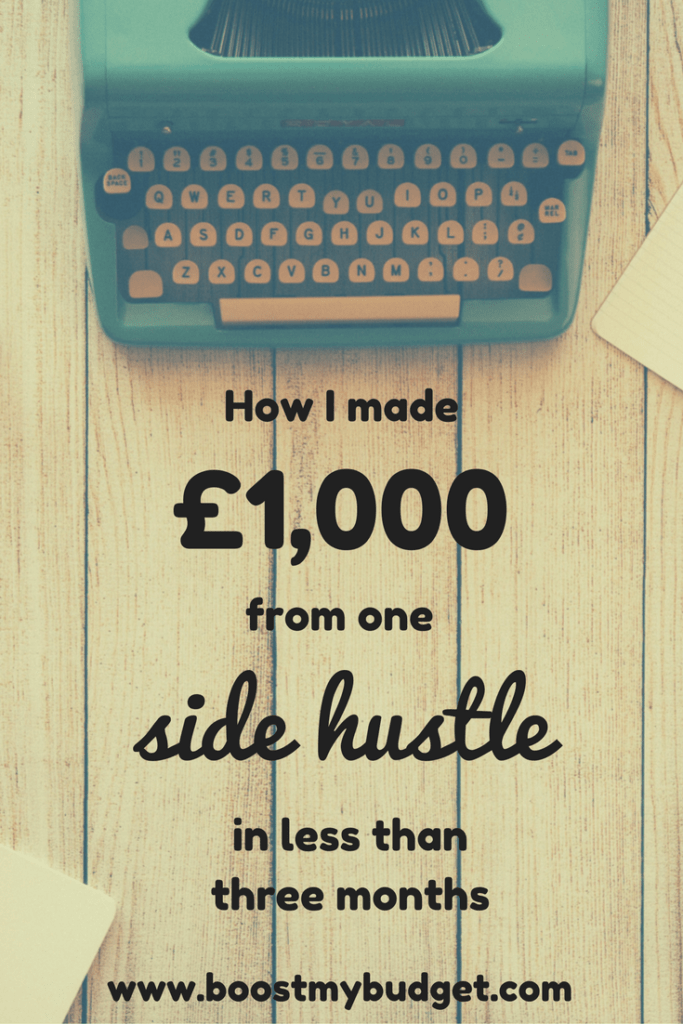 Matched betting is an awesome side hustle than anyone can do from home to make anything up to £2000 per month. It's a brilliant way of making extra income and it fits in well around a day job. If you're looking to make money online, I cannot recommend it enough. I made my first £1000 in less than twelve weeks, but many people are making way more than me! Click through to read my blog post about my progress in those first few weeks.