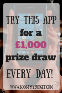 Want to be in with a chance of winning £1000, every day? Of course you do! This one easy to use app lets you enter its prize draw every day, for free! All it takes is one minute of your time each day, and you could win some serious cash! Click through to get my referral code to increase your jackpot by an extra £100.