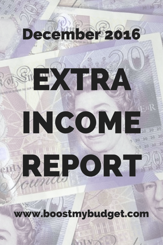 I earned £580.37 in extra income online in December 2016! That's alongside a full time day job. See the breakdown of how I did it here!