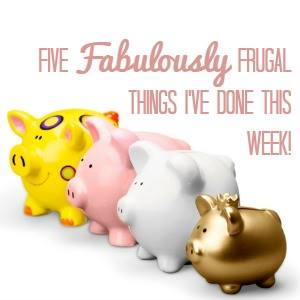five frugal things I've done this week badge
