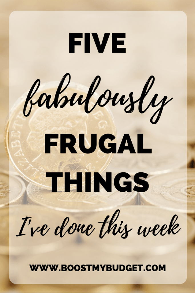 I'm taking part in the five fabulously frugal things challenge to blog about five ways I've saved money each week! Click through to get involved.