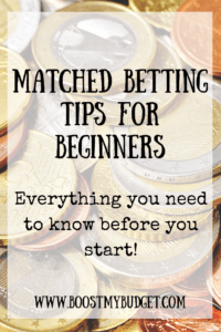 Starting matched betting? Here's what you need to know. Best tips for starting matched betting and making money from home!