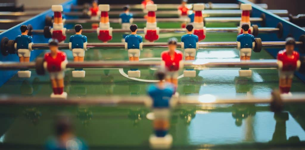matched betting table football figures