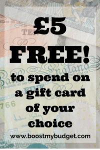 get £5 free credit to spend on any gift card when you sign up with Zeek