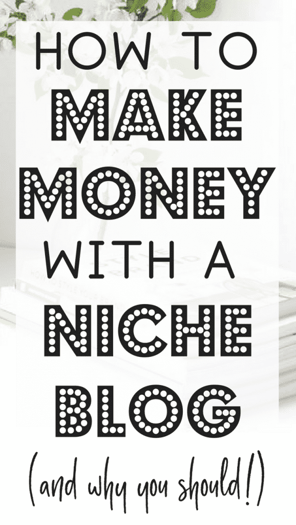 Want to learn how to make passive income by blogging? Have you considered a niche blog? Niche blogs make money from affiliate marketing. Because they're on a narrow topic, they make great sales and they don't take as much work as a full blog. See how I'm doing it and find free resources to get started!
