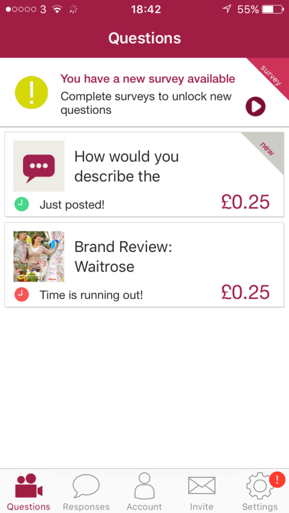 some of the surveys to answer for money on VoxPopMe