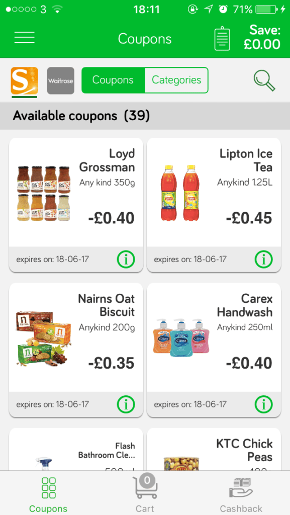 Apps to save money at the supermarket. You can save huge amounts on your weekly shop by downloading these 6 free apps! Sign up today and see how you can save on groceries in a month. - green jinn screenshot