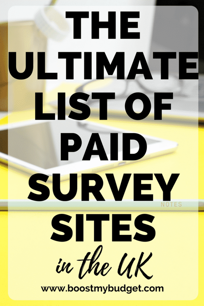 The Ultimate List of Paid Survey Sites in the UK ( 2019