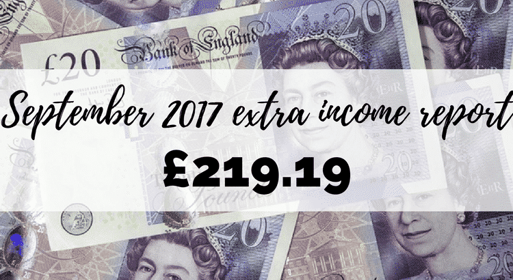 September 2017 extra income report