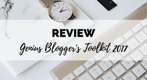 genius blogger's toolkit 2017 review