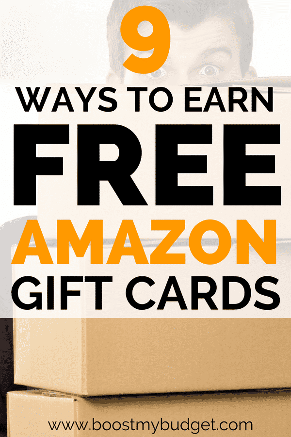 Wanna learn how to earn amazon gift cards for FREE? Click through for 9 easy and fun ways to earn free vouchers online. These gift cards can really go a long way to help your family budget and prepare for a cheap and frugal Christmas!
