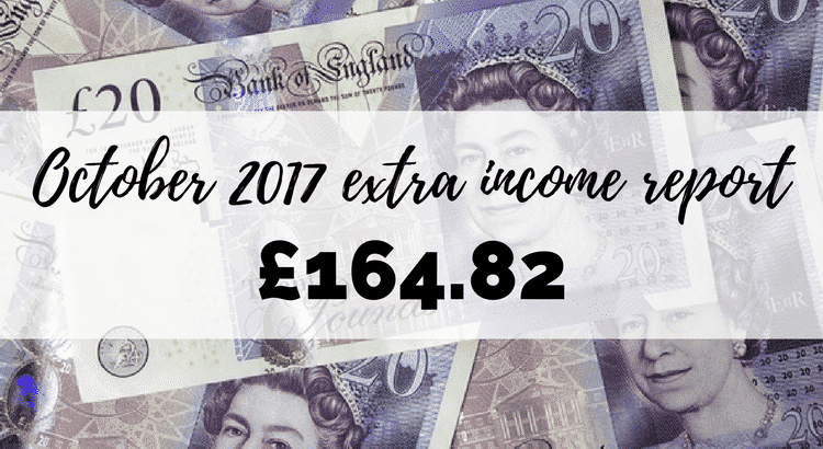 October 2017 extra income report