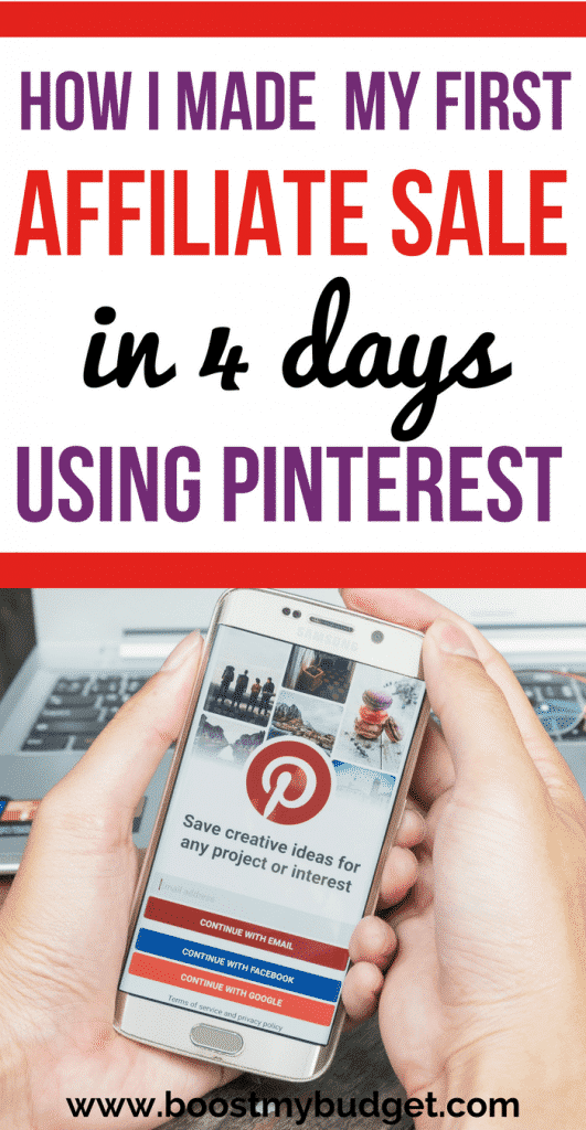 Did you know you can make money on Pinterest? I didn't until recently. Then I came across an ebook that taught me about affiliate marketing on Pinterest. Using those techniques, I made my first sale in 4 days! Click through to my blog for the full review of the strategy and how I continue to make money online every month :)