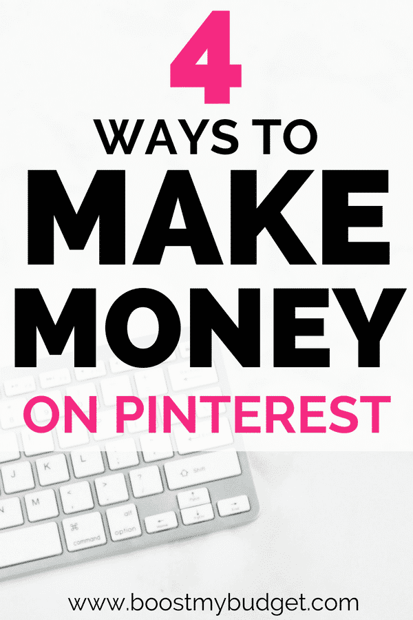 Wondering how to make money on Pinterest? Click through for 4 fun and unexpected ways to turn your pinning obsession into a money making side hustle!