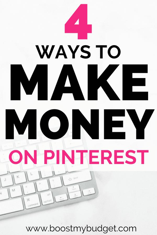 Vous vous demandez comment gagner de l'argent sur Pinterest? Cliquez pour découvrir 4 façons amusantes et inattendues de transformer votre obsession épinglée en argent!