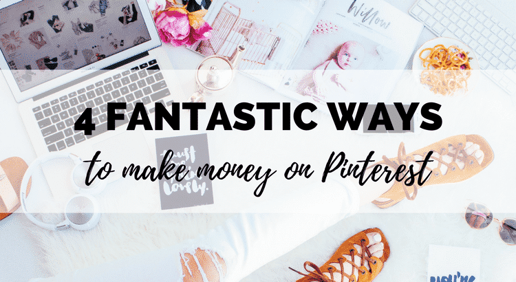 Did you know you can make money on Pinterest? I get a paycheck for pinning every month, and it's the most fun way I've tried of making money online! Here are 4 different ways to make money from Pinterest: affiliate marketing, become a Pinterest influencer, work from home as a Pinterest VA, or drive traffic to your blog or store. Click through to learn how to get started!