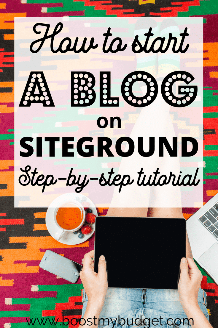 Wondering how to make money from blogging? This post will show you EXACTLY how to start a blog on Siteground - step by step for beginners, with screenshots! Plus. I'll tell you the best way to get traffic to a new blog and how to make money. You can't afford to miss this tutorial!