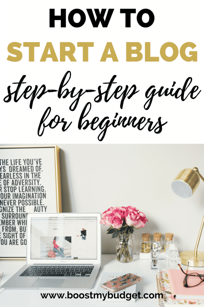 Want to start a blog to make money? I make over £1000 a month with my blogging side hustle! I wrote this step-by-step guide for beginners to teach you how to start your blog with WordPress on SiteGround and write your first post!