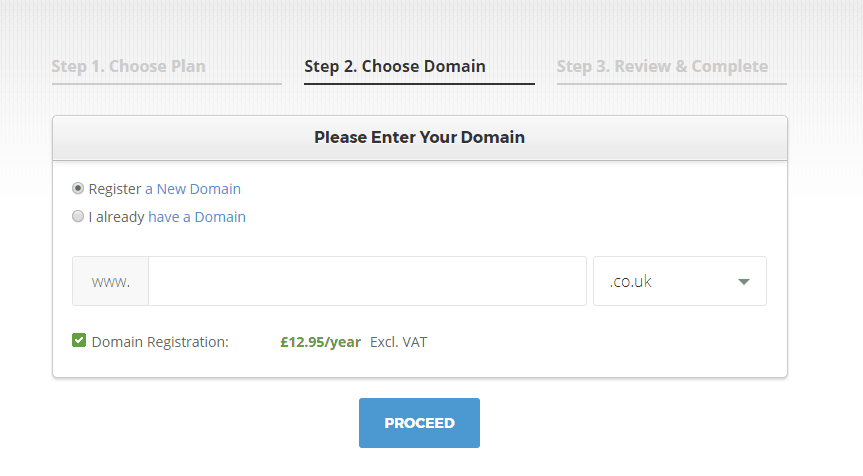 How to start a blog to make money: buy a domain name on Siteground