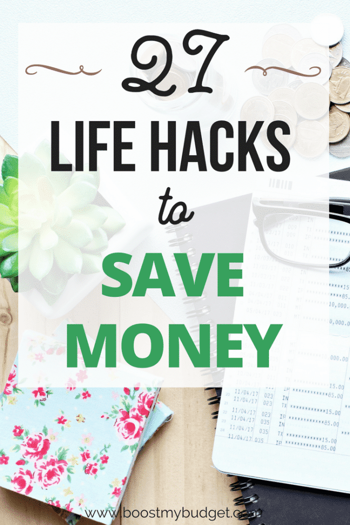 27 life hacks to help you save SERIOUS money... so many good ideas and tips on this list. I'm gonna try #3 starting tomorrow! #savemoney #savingmoney #lifehacks