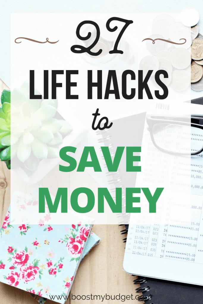 27 life hacks to help you save SERIOUS money... so many good ideas and tips on this list. I'm gonna try #3 starting tomorrow! #savemoney #savingmoney #lifehacks