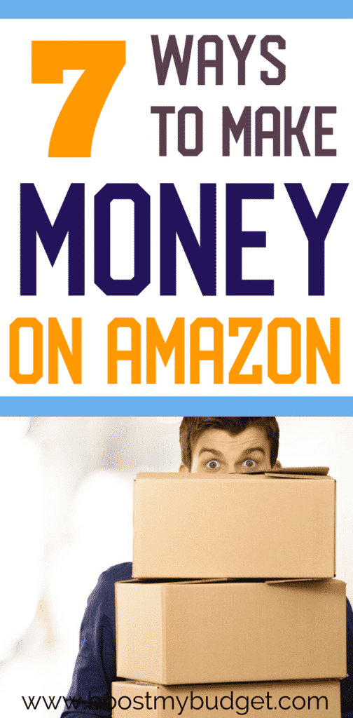What, you can Amazon to pay YOU?! That's right, here are 7 unique and simple ways to make money from home using Amazon, one of the biggest companies in the world! So many opportunities to earn extra cash, including affiliate marketing, designing T-shirts, work at home jobs and more! Click through to see the full list.