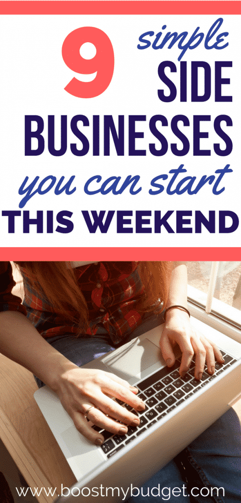 Looking for side business ideas so you can start to make extra money? These 9 profitable side hustle ideas will give you lots of inspiration to start earning more in 2018. Best of all, they're all relatively easy and have low or no start up costs. You can get going in a weekend! What will you do with all that extra money??