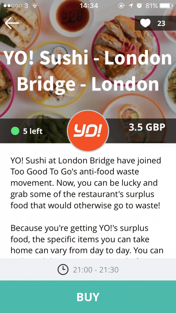 great money saving tip - use the Too Good To Go app for cheap restaurant food!
