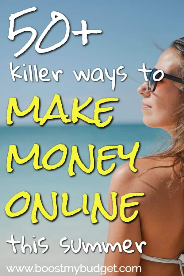 Looking for ways to make money online? This epic post has over 50 ideas, from quick ways to make extra cash, to full time work at home jobs. Click through to find out how you could start making more money today!