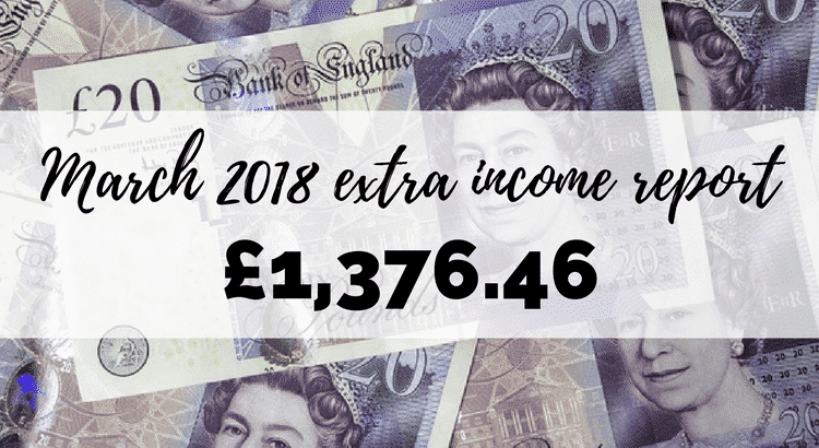 I made £1,376.46 online in extra income last month, and that's on top of my day job! Here's my income report for March 2018 that sets out how I did it.