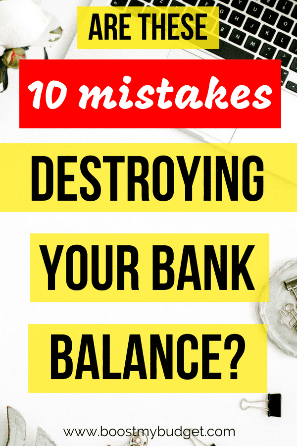 These 10 little-known personal finance mistakes could be ruining your finances without you even realising! Follow these tips to take control of your money now!