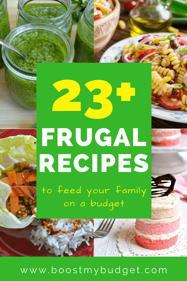 Amazing and tasty frugal recipes to feed your family cheap, even on a tight budget!