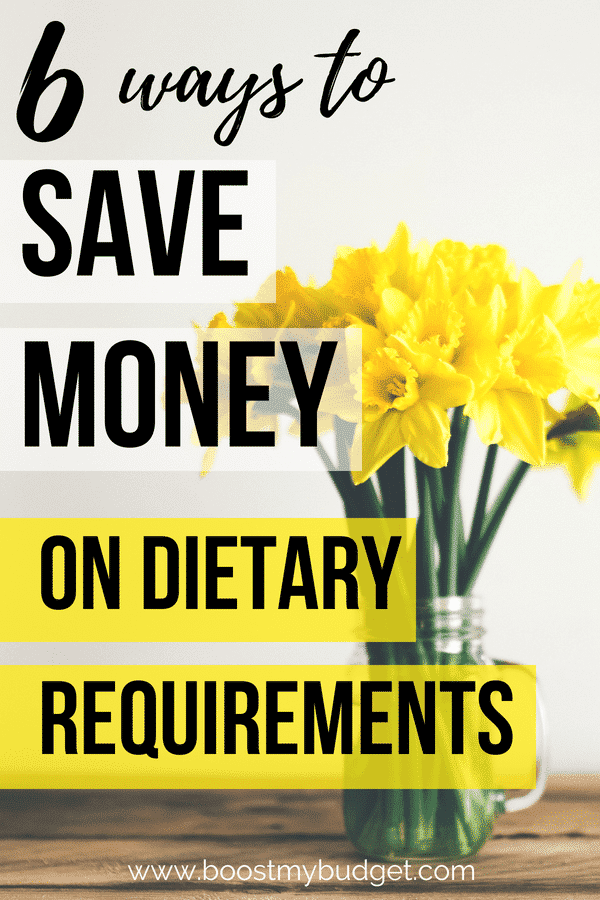 When you have dietary requirements such as a vegan diet or gluten intolerance, it can be hard to stick to your budget. This post has lots of money saving tips and tricks to help you save money on your special diet.
