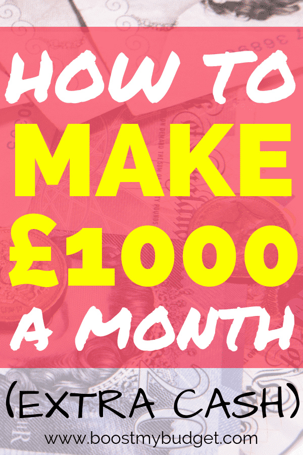 How to make £1000 a month online, from home. Learn how to make £1000 a month in extra cash, every month! These are all online, work at home side jobs that you can do around your kids or full time job :)