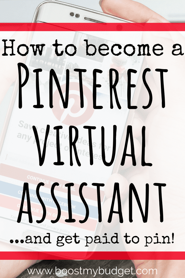 As a Pinterest Virtual Assistant (VA), you basically get paid to pin! You can do this as a side hustle idea to earn a few hundred extra cash each month, or scale it up to become a full time work at home business. Perfect way to earn extra income from home!