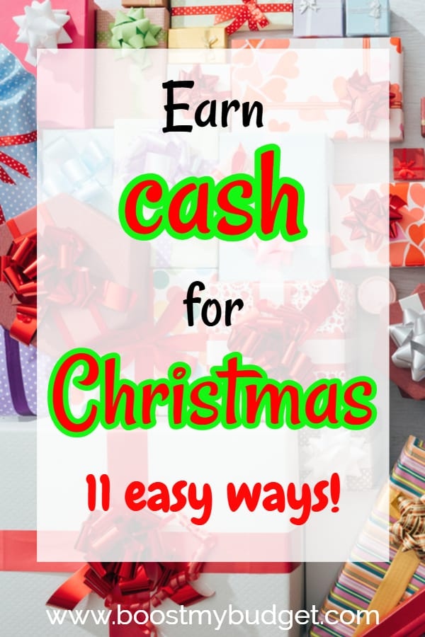 Earn fast money for Christmas! Click through to learn the 11 quick wins to make extra cash this Christmas time.