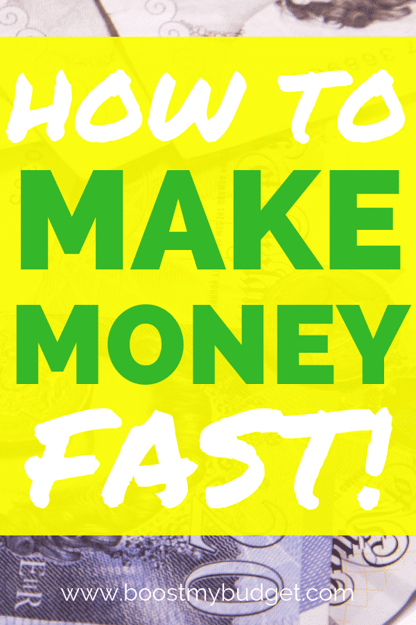 Need money fast? Here are my top money making ideas to earn cash in a week or less! Click through to find out how you could have more money tomorrow!