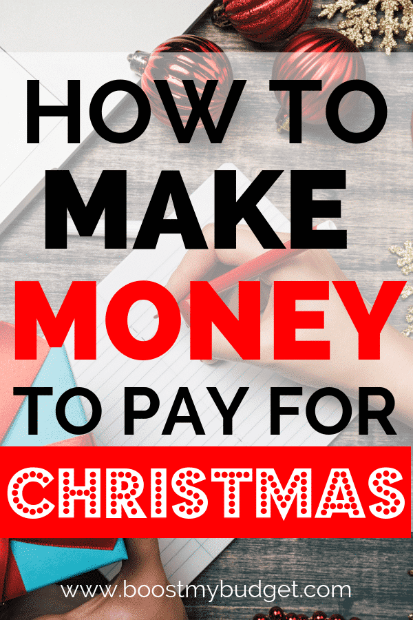 Christmas money making ideas - avoid debt this Christmas, make enough extra CASH to pay for Christmas presents up front! Lots of easy ways to make extra money from home in this article