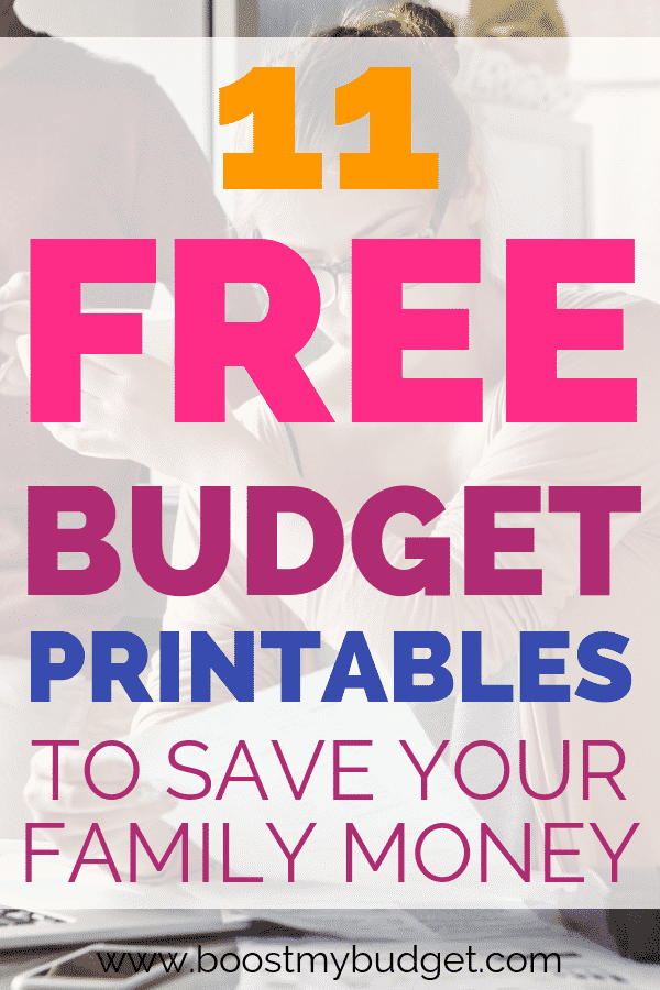 Save money on your family budget, and stop stressing about money. These free budgeting printables will set you on the right path!