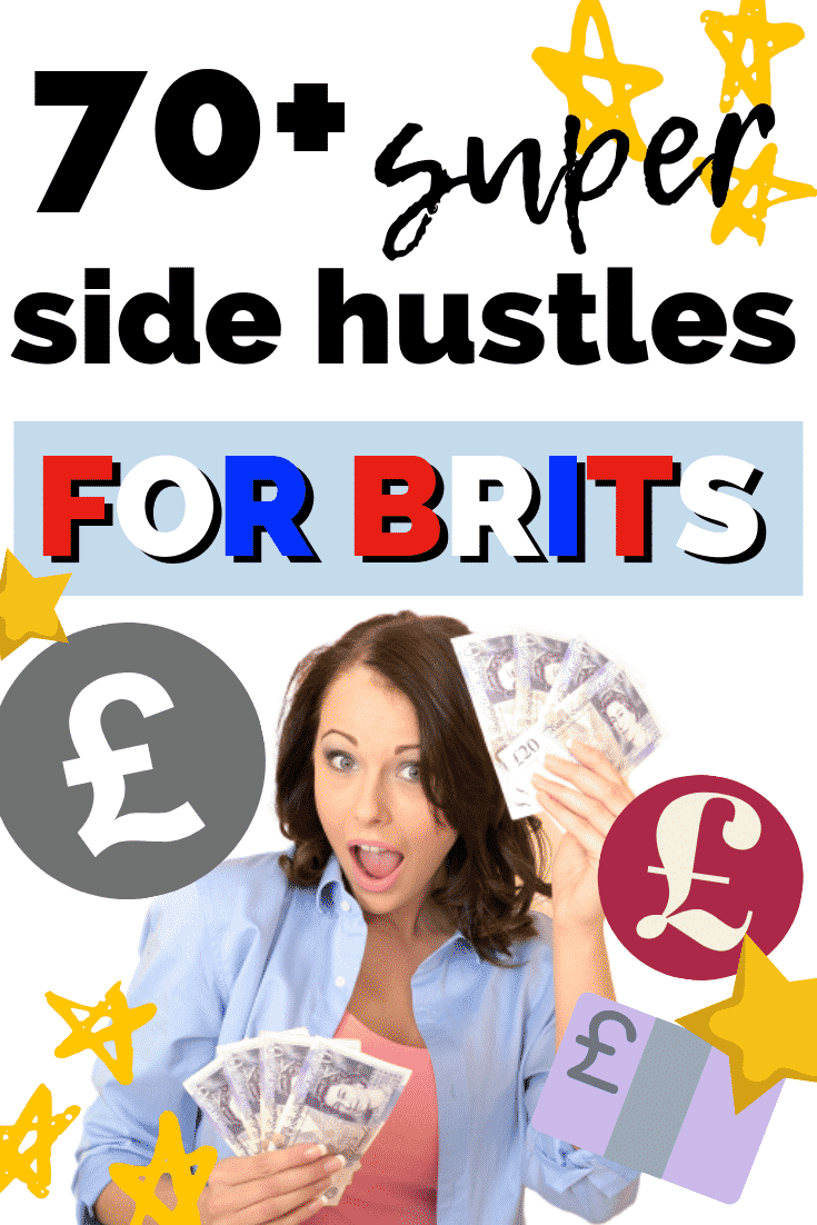 70+ super side hustles FOR BRITS! Don't let Americans have all the fun haha. If you want to earn extra money, this post has over 70 ideas that work in the UK! Plus info on paying tax on your extra income and more.