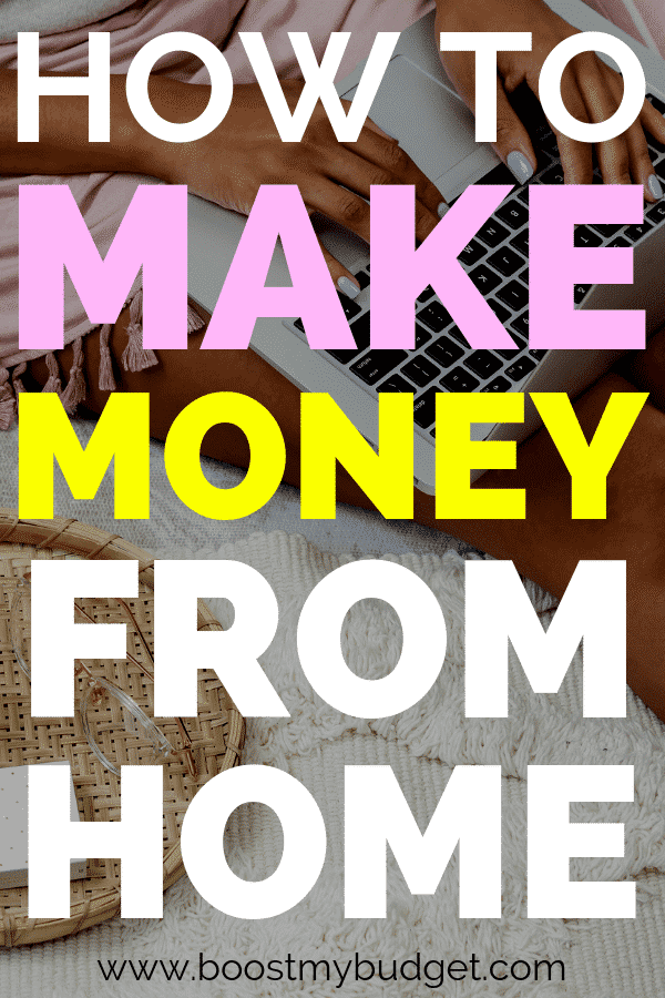How to make money from home: 38 ways to make money from the comfort of your home, whether you're looking for a part time side hustle idea or a full home business!