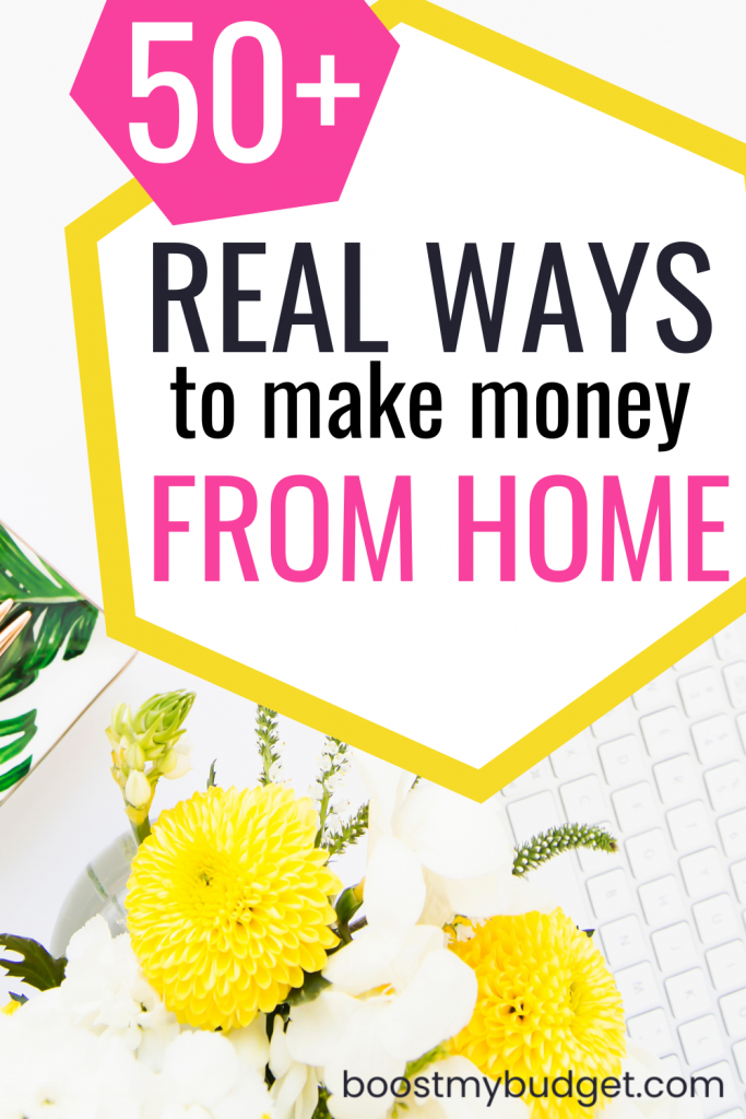 50+ REAL and easy ways to make money from home in the UK!