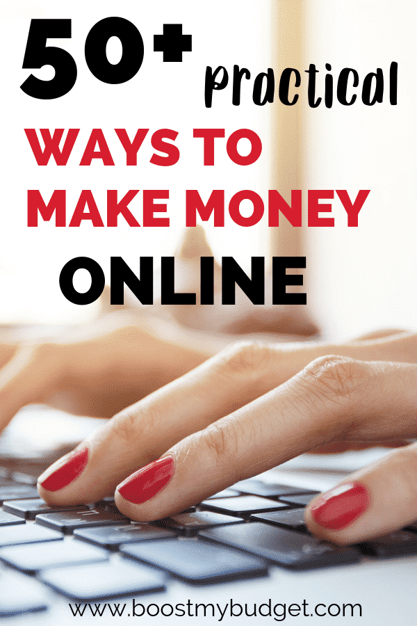 Over 50 practical and easy ways to make money online! Start making more money today!